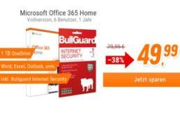 Notebooksbilliger.de: Office 365 mit Bullguard Security für 49,99 Euro