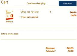 Gratis: Office 365 Jahreslizenz für ausgewählte Onedrive-Kunden