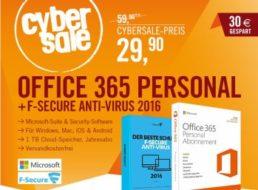 Cyberport: Office 365 & F Secure Anti-Virus 2016 für 29,90 Euro