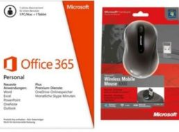 Ebay: Office 365 Personal mit Mobile Mouse 4000 für 39,99 Euro