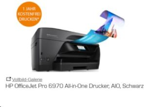 Saturn: HP OfficeJet Pro 6970 mit Tinten-Flatrate zum Preis von 139,99 Euro