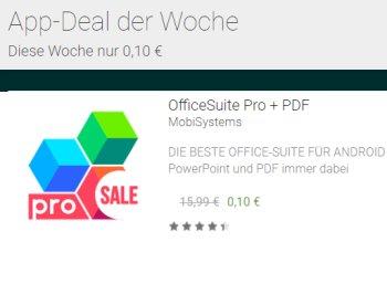"""Google Play: """"OfficeSuite Pro & PDF"""" für 10 Cent statt 15,99 Euro"""