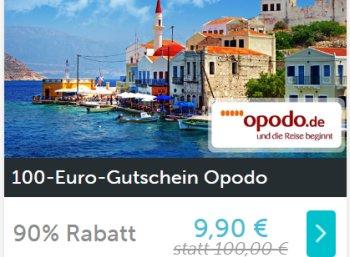 Opodo: Reise-Gutschein über 100 Euro für 9,90 Euro via Dailydeal