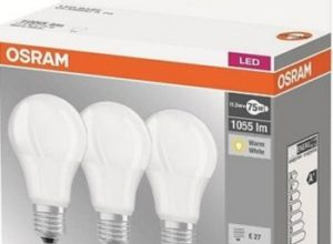 Osram: LED-Birnen mit 11,5 Watt im Dreierpack für 10,45 Euro frei Haus