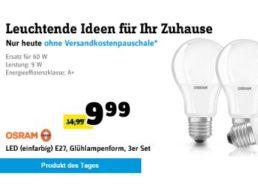 Conrad: LED-Birnen von Osram im Dreierpack für 9,99 Euro frei Haus