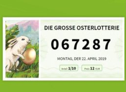 Osterlotterie: Jedes dritte Los gewinnt, Teilnahme ab einem Euro möglich