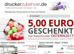 Druckerzubehoer.de: 5 Euro Rabatt ab 20 Euro Warenwert