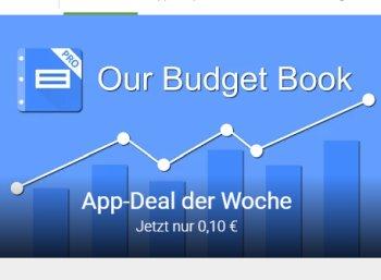 """Google Play: """"Unser Haushaltsbuch Pro"""" für 10 Cent"""