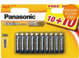 Panasonic: Batterien im 20er-Pack für 7,99 Euro frei Haus
