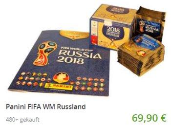 Panini: Sammelalbum zur Fußball-WM 2018 mit 500 Stickern für 69,90 Euro