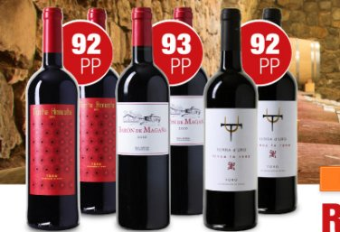 Weinversand: Parker-Weinpaket mit 92 - 93 Punkten zum Neukundenpreis von 43 Euro