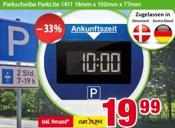 Völkner: Elektronische Parkscheibe mit Zulassung für 19,99 Euro frei Haus