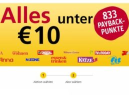 Fit for Fun: 3 Ausgaben für 8,19 Euro mit 833 Payback-Punkten