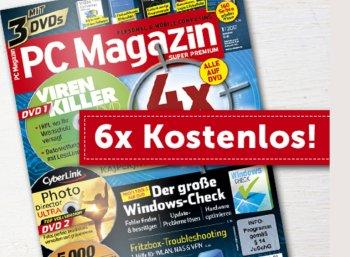 Gratis: PC-Magazin-Halbjahresabo mit 18 DVDs und zahlreichen Vollversionen
