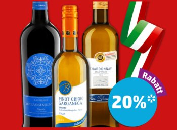 Penny: 20 Prozent App-Rabatt auf italienische Weine