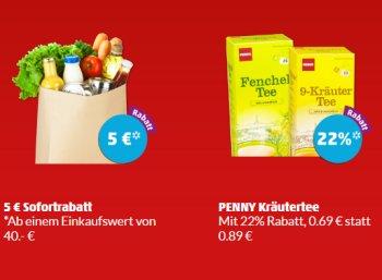 Penny: Fünf Euro App-Rabatt am Freitag abend