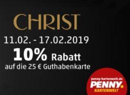 Penny: Guthabenkarten von Christ mit zehn Prozent Rabatt