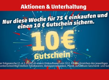 Penny: Gutschein über 10 Euro ab 75 Euro Warenwert in dieser Woche