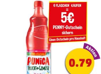 Penny: Gutschein über 5 Euro beim Kauf von Punica-Flaschen für 4,74 Euro