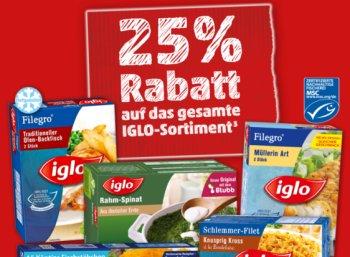 Penny: 25 Prozent Rabatt auf das komplette Iglo-Sortiment bis Samstag