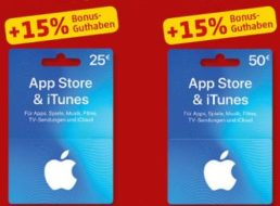 Penny: 15 Prozent Extra-Guthaben beim Kauf von iTunes-Karten