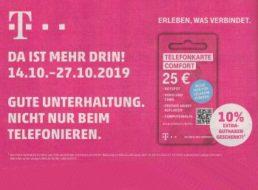 Telekom Comfort: 10 Prozent Extra-Guthaben bei Rewe & Penny