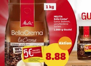 Penny: Kilogramm Melitta-Kaffeebohnen für 3,88 Euro dank Cashback