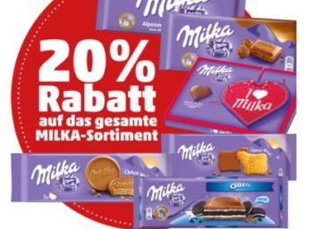 Penny: 20 Prozent Milka-Rabatt am Freitag und Samstag