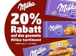 Penny: 20 Prozent Milka-Rabatt für eine Woche