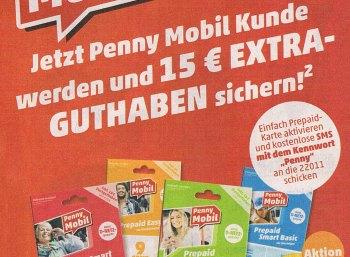 Penny Mobil: Prepaid-Karte für 9,95 Euro mit 20 Euro Guthaben