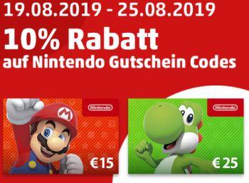 Penny: Nintendo-Guthabenkarten mit zehn Prozent Extra-Rabatt