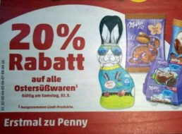 Penny: 20 Prozent auf alle Ostersüßwaren am Karsamstag