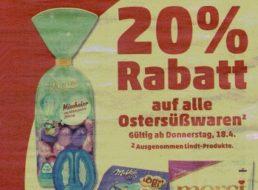 Penny: Ostersüßwaren ab Gründonnerstag mit 20 Prozent Rabatt