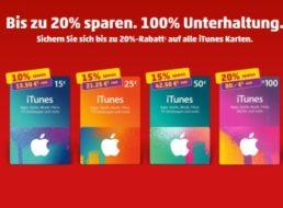 Penny: Bis zu 20 Prozent Rabatt auf iTunes-Karten bis Samstag