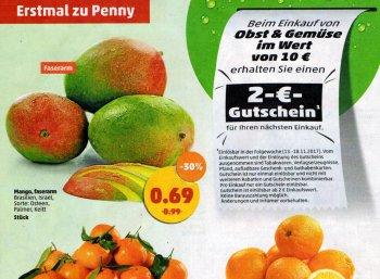 Penny: Gutschein über zwei Euro beim Kauf von Obst und Gemüse