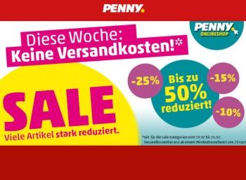 Penny: Sale mit Gratis-Versand ab 20 Euro Warenwert bis Dienstag abend