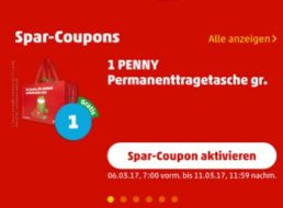 Penny: Tragetasche mit 10 Cent Sofortrabatt via App zum Nulltarif