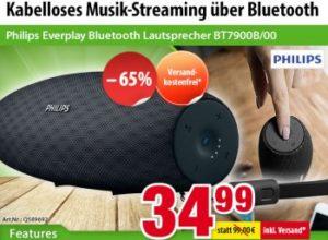 Völkner: Philips Everplay Bluetooth Lautsprecher für 34,99 Euro frei Haus