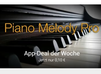 """Google Play: """"Piano Melody Pro"""" jetzt für 10 Cent zu haben"""