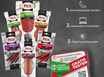 Gratis: Cashback-Aktion für ungarische Salami von Pick