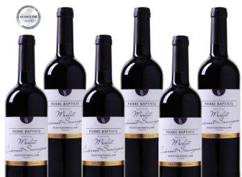 """Weinvorteil: Sechs prämierte Flaschen """"""""Pierre Baptiste - Grande Reserve Merlot"""" für 29,99 Euro"""