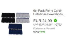 Pierre Cardin: Sechserpack Boxershorts für 24,99 Euro frei Haus
