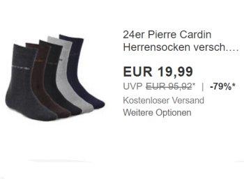 Pierre Cardin: 24 Paar Herrensocken für 19,99 Euro frei Haus