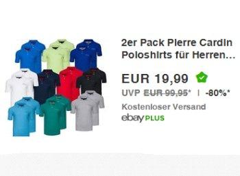 Pierre Cardin: Poloshirts im Doppelpack für 19,99 Euro frei Haus