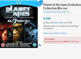 Planet der Affen: Blu-ray-Box mit 7 Filmen für 10,98 Euro frei Haus