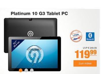"""Plus: Tablet """"Ninetec Platinum 10 G3"""" für 119,99 Euro frei Haus zu haben"""