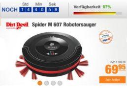 Plus: Gut bewerteter Staubsauger-Roboter DirtDevil Spider M607 für 64,95 Euro