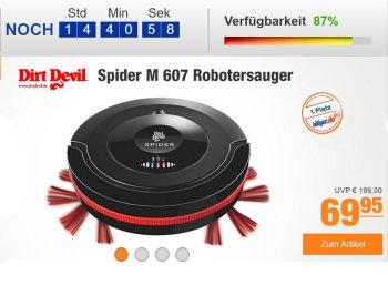 Plus: Gut bewerteter Staubsauger-Roboter DirtDevil Spider M607 für 64,95 Euro frei Haus