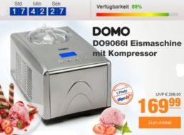 Plus: Eismaschine Domo DO9066I zum Bestpreis von 169,99 Euro frei Haus