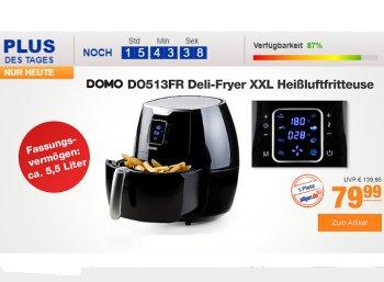 Plus: Heißluftfritteuse Domo DO513FR zum Bestpreis von 79,99 Euro mit Versand